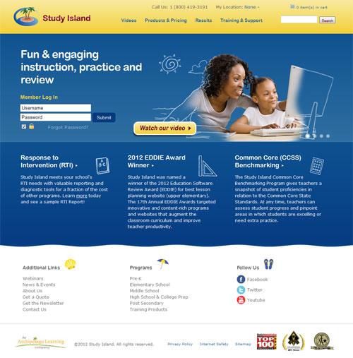 Study Island Homepage