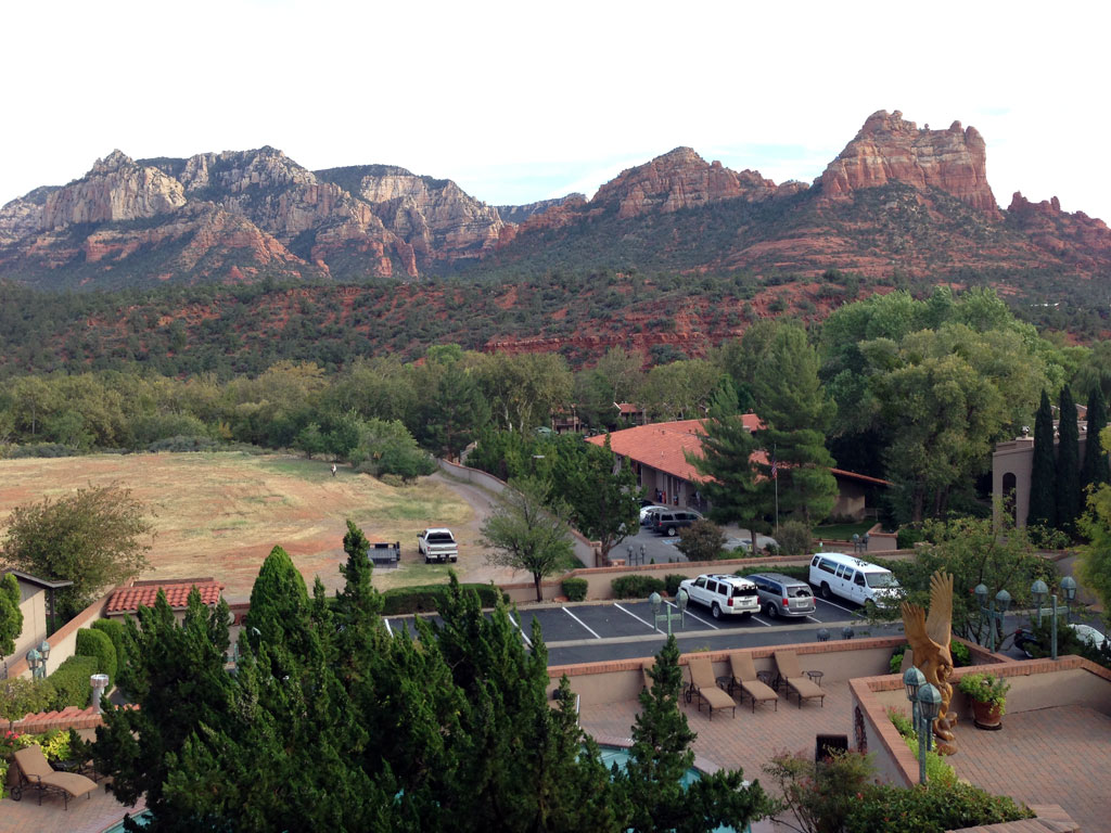 View from Our Hotel in Sedona