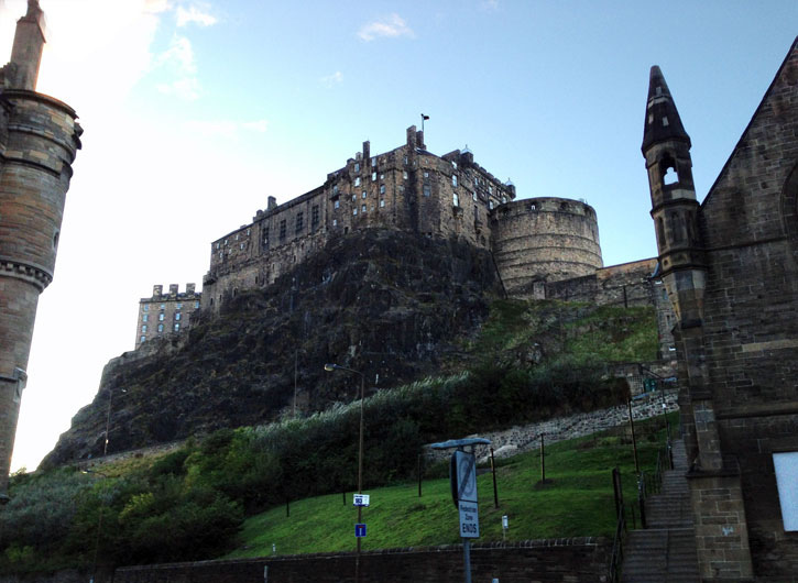 Edinburgh Castle from Grass Market