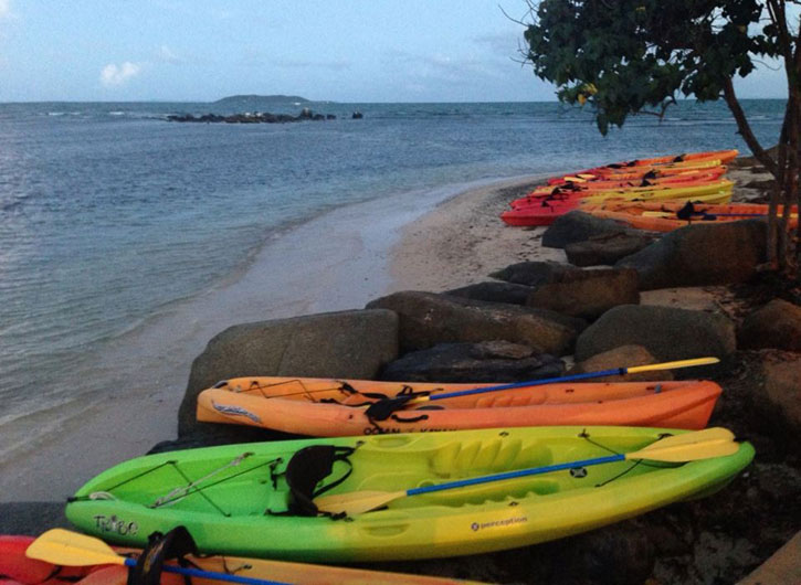 Kayaks at Fajardo