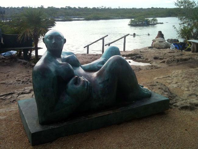 Yal Ku Lagoon Reclining Figure